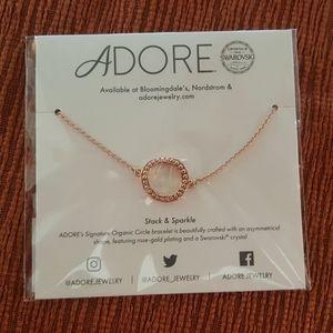Swarovski Adore Rose Gold Circle Bracelet